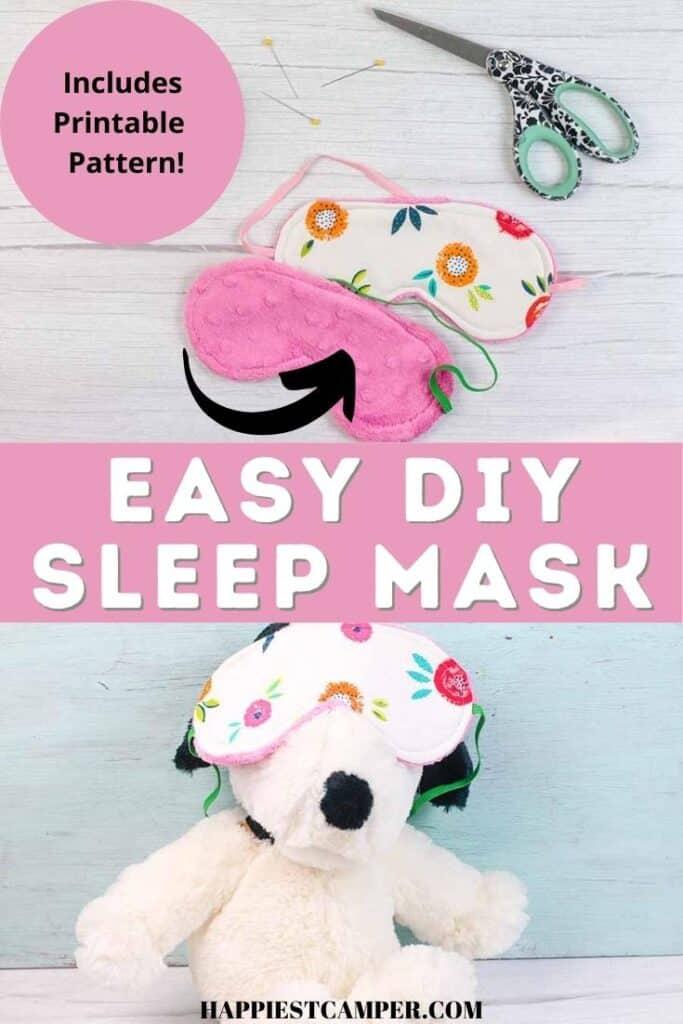 DIY Sleep Mask With Free Printable Pattern