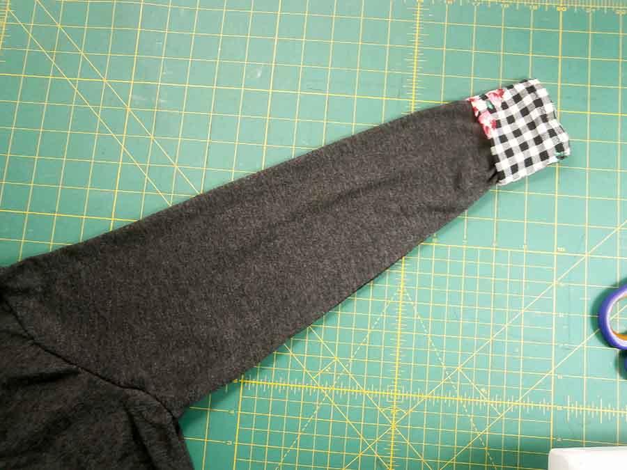 adding trim to hood sleeve