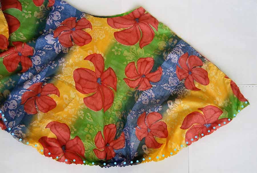 hemming circle skirt
