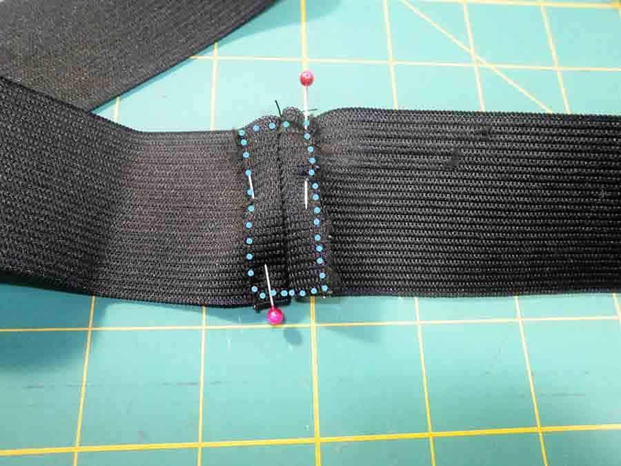 sewing around circle skirt waistband