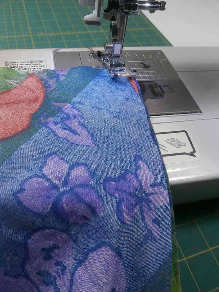 sew sides seams of circle skirt