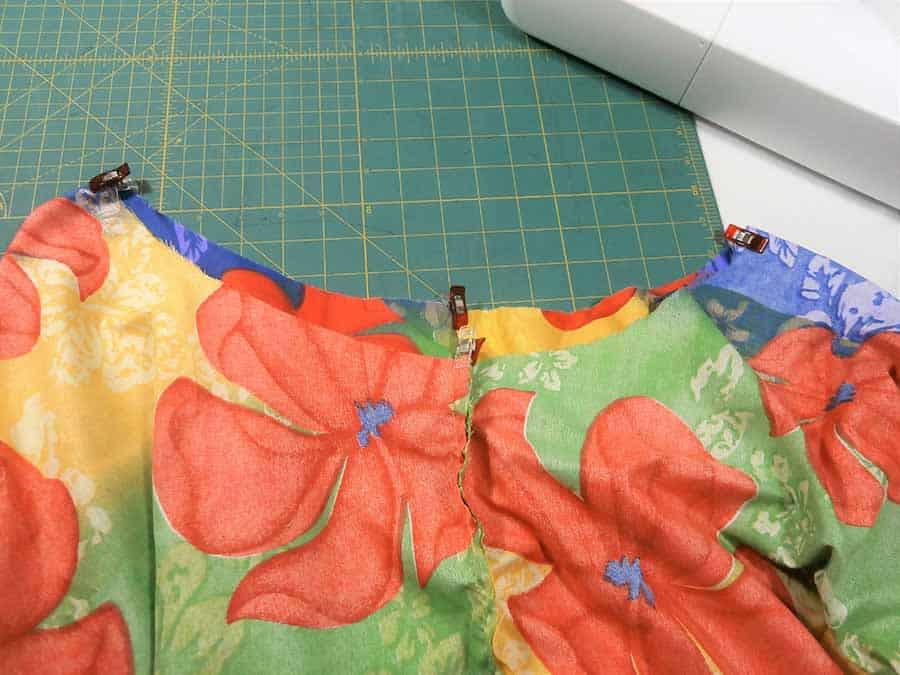 pin and quarter circle skirt