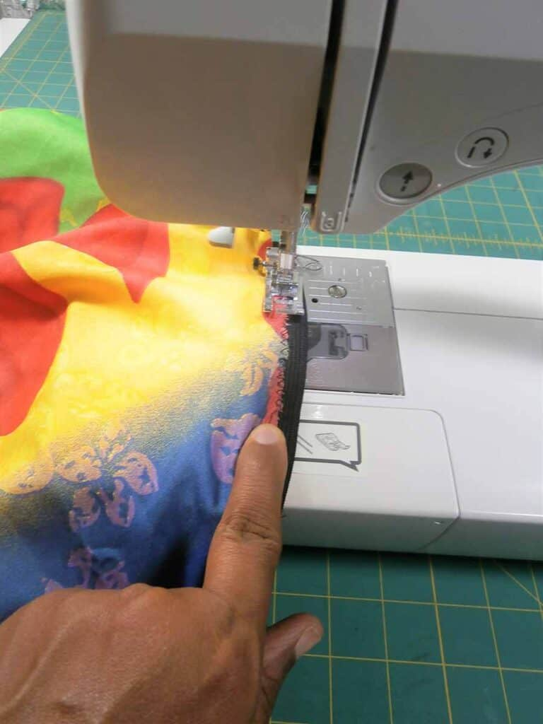 sewing elastic waistband to circle skirt