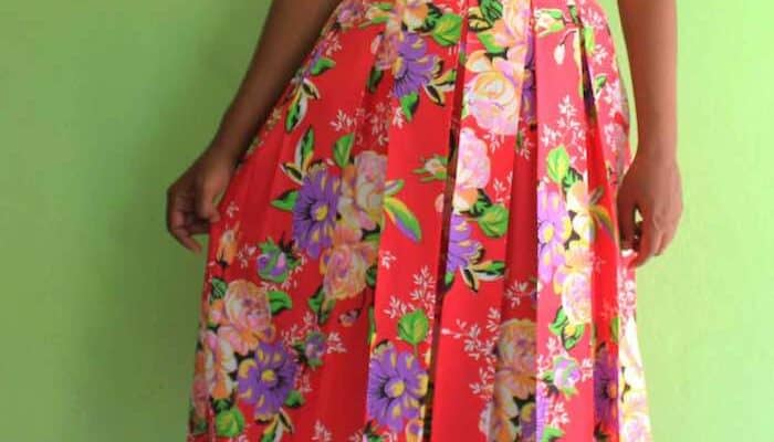 How To Make A Pleated Skirt With Free Pattern