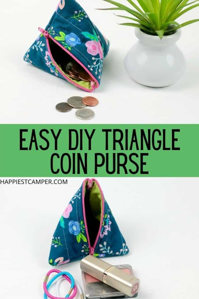 How To Make A Triangle Coin Purse Sewing Tutorial