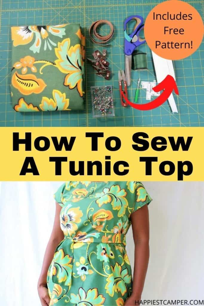 How To Sew A Tunic Top With Free Tunic Top Sewing Pattern