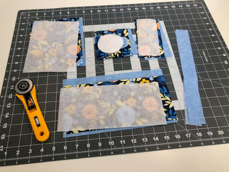 pattern pieces for water bottle holder