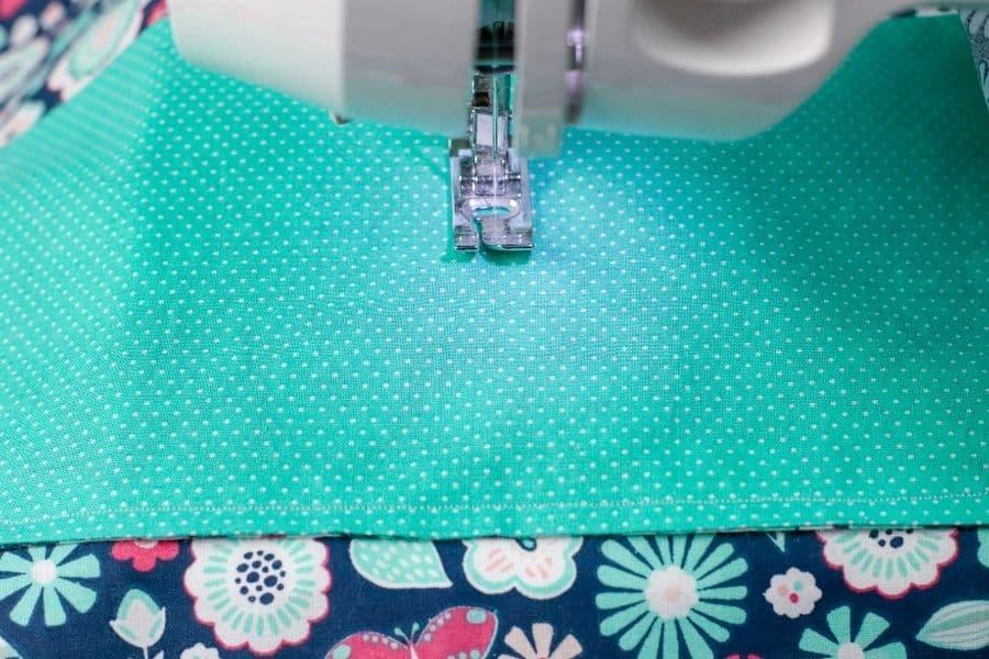 adding a seam in the fabric