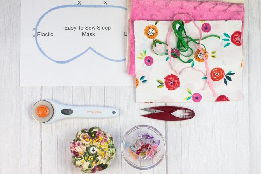 supplies needed for DIY Sleep Mask