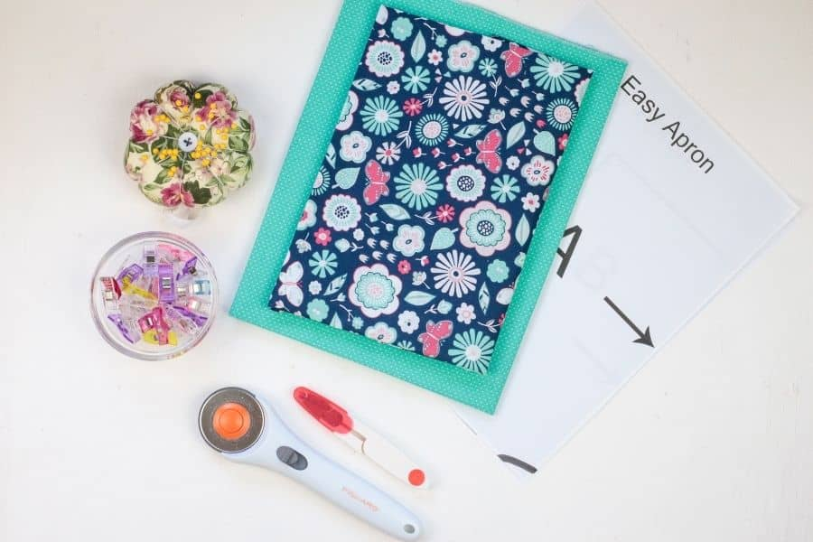 supplies needed to sew apron