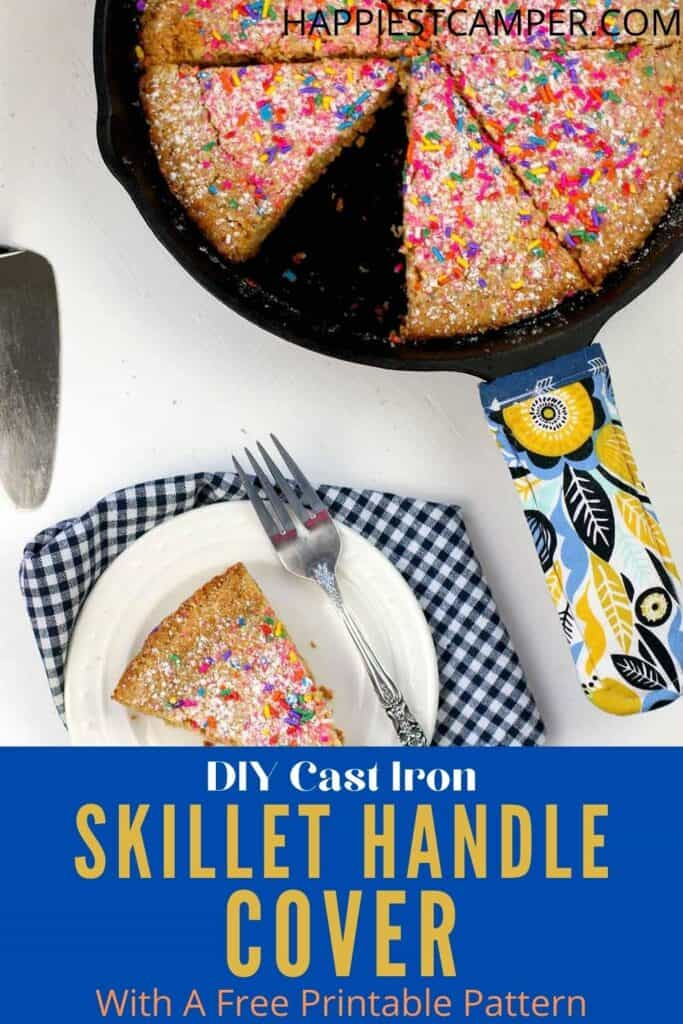 DIY Cast Iron Skillet Handle Cover With A Free Printable Pattern
