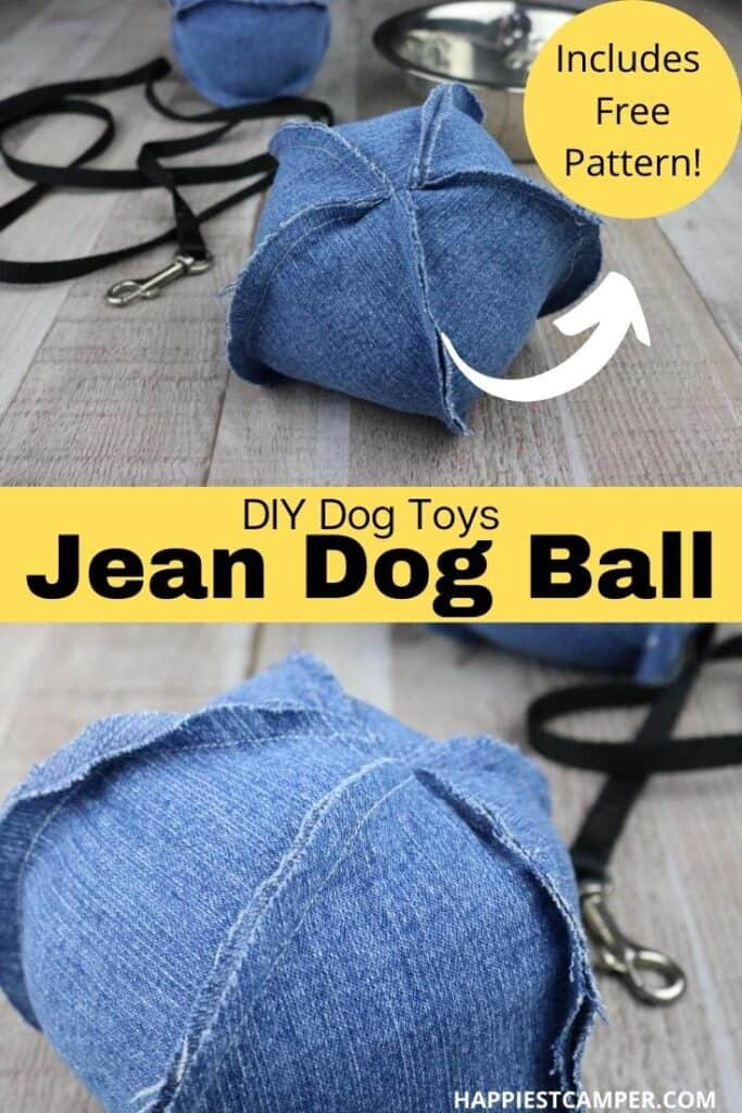 DIY Dog Toys - Jean Dog Ball with Free Pattern