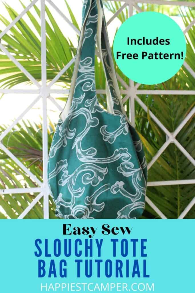 Easy Sew Slouchy Tote Bag with free pattern