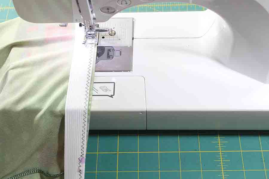 sewing elastic to pencil skirt