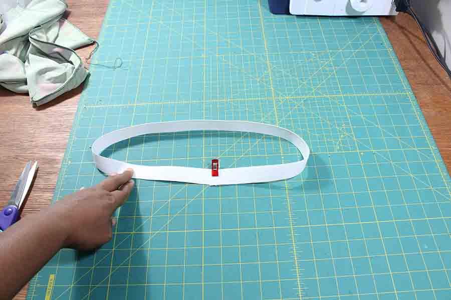 cut elastic for pencil skirt waistband