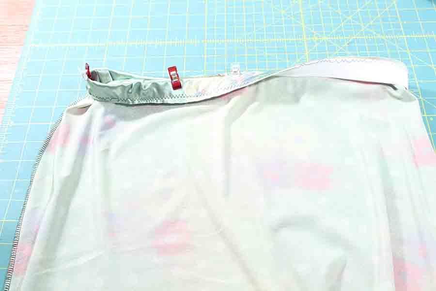 pinning waistband to pencil skirt