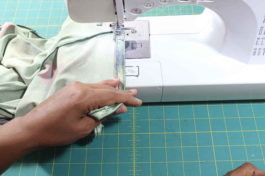 sewing waistband onto pencil skirt