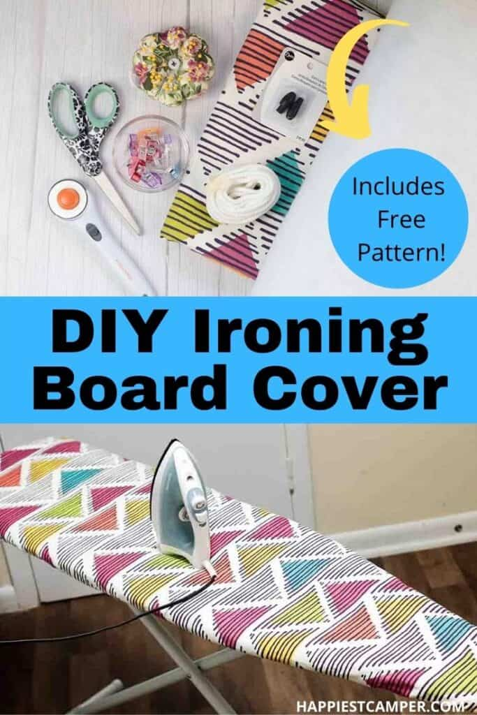 How To Make An Ironing Board Cover With A Free Printable Pattern