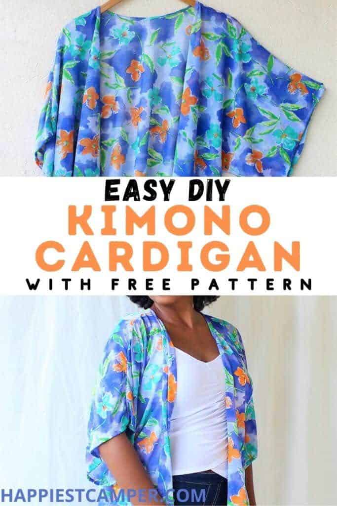 Easy DIY Kimono Cardigan With Free Pattern