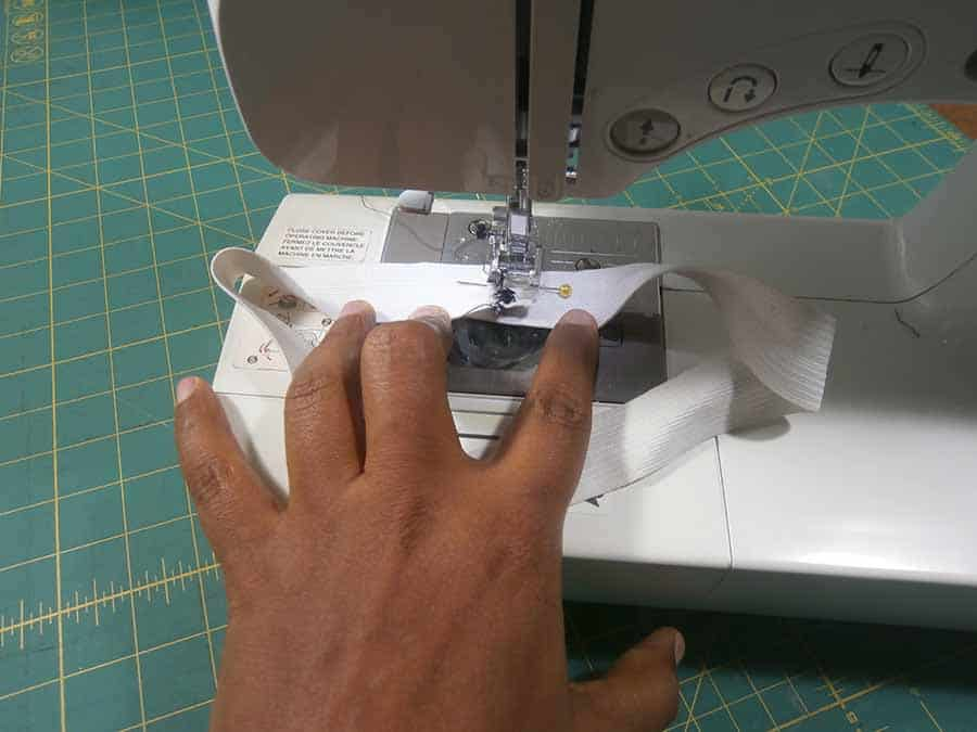 sew elastic for pencil skirt waistband