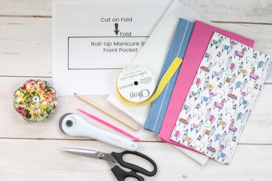 Travel manicure kit supplies