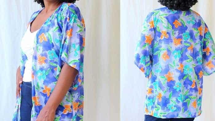 Easy DIY Kimono Cardigan With Free Pattern