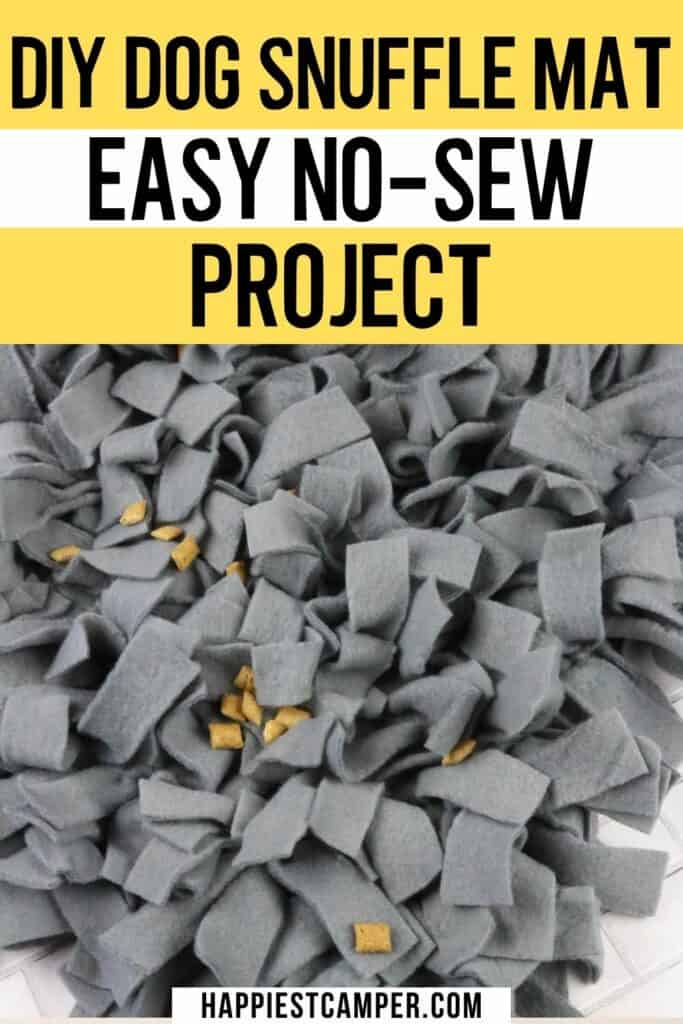DIY Dog Snuffle Mat - Easy No-Sew Project