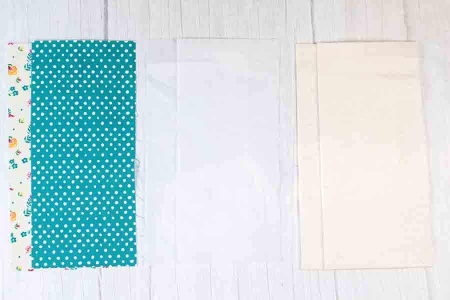 cut out materials for fabric beverage holder