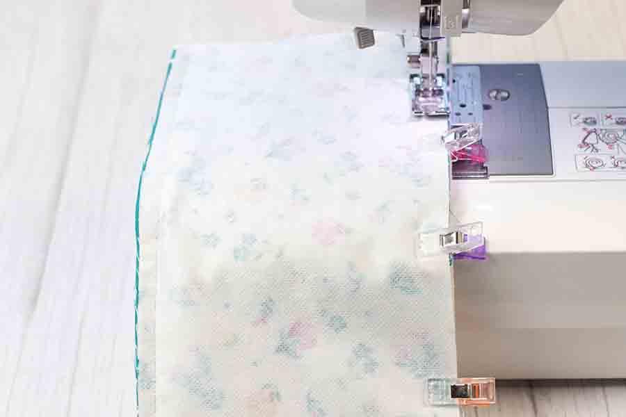 sew around fabric beverage holder