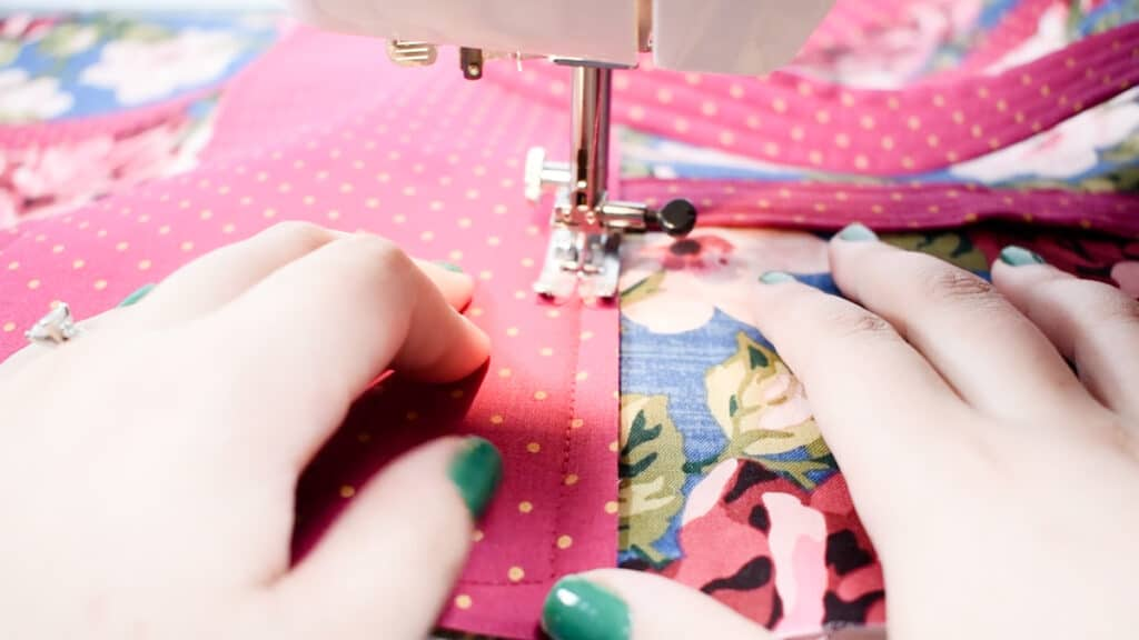 sew on bottom panel