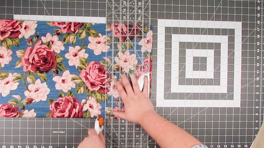 duffel bag - cut fabric