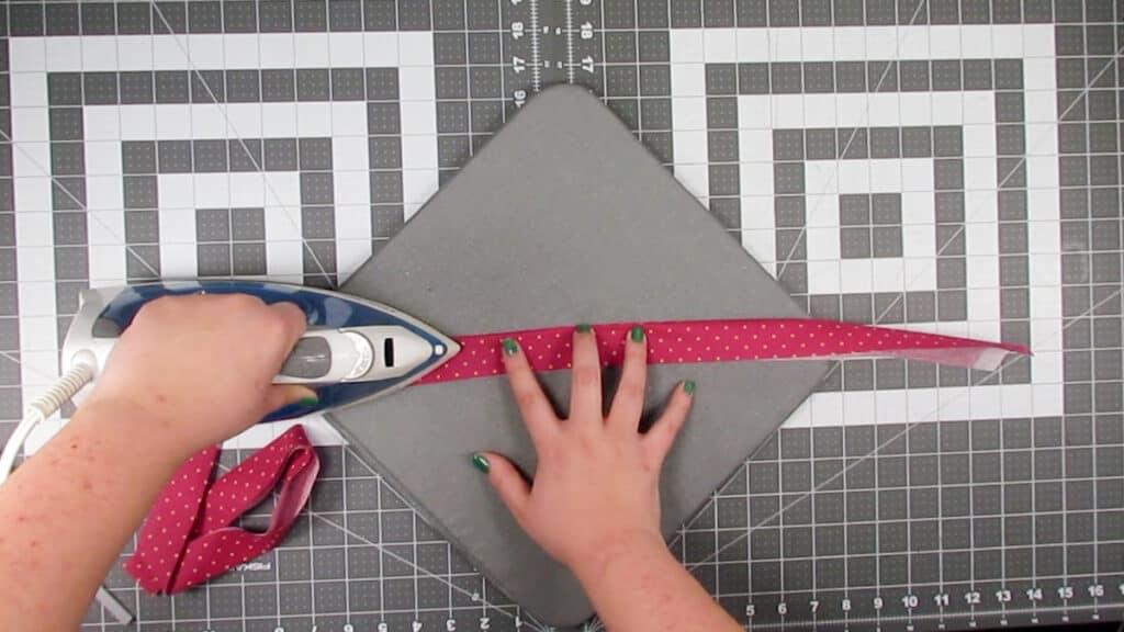 iron straps in half
