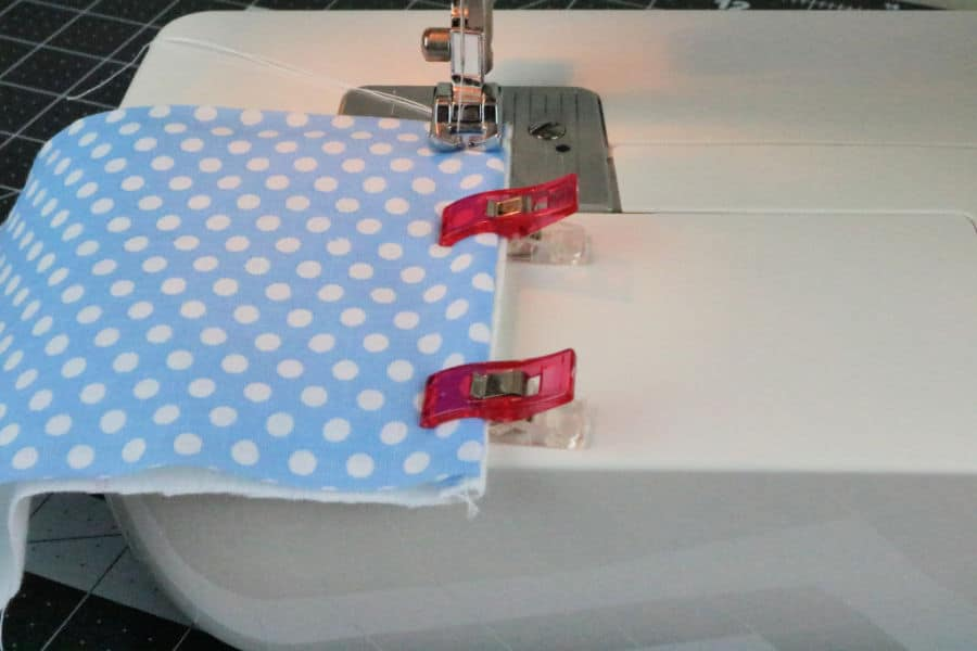 Sew the two pieces together using a one-quarter inch seam allowance