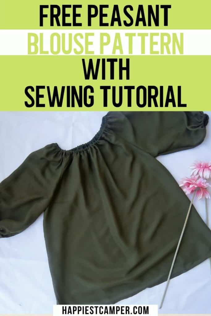 Free Peasant Blouse Pattern With Sewing Tutorial
