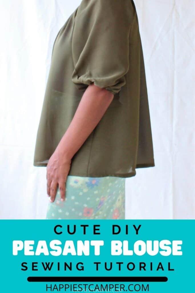 Cute DIY Peasant Blouse Sewing Tutorial
