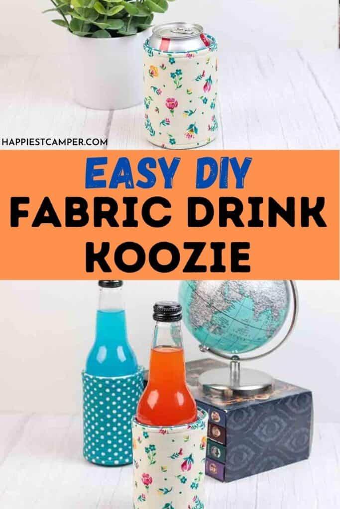 Easy DIY Fabric Drink Koozie
