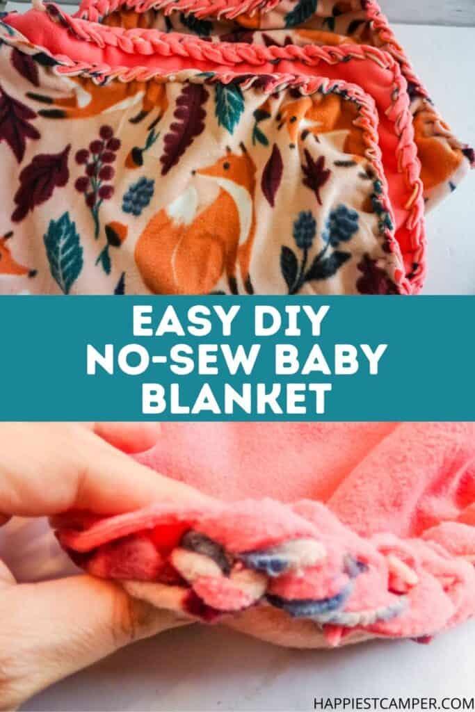 Easy DIY No-Sew Baby Blanket