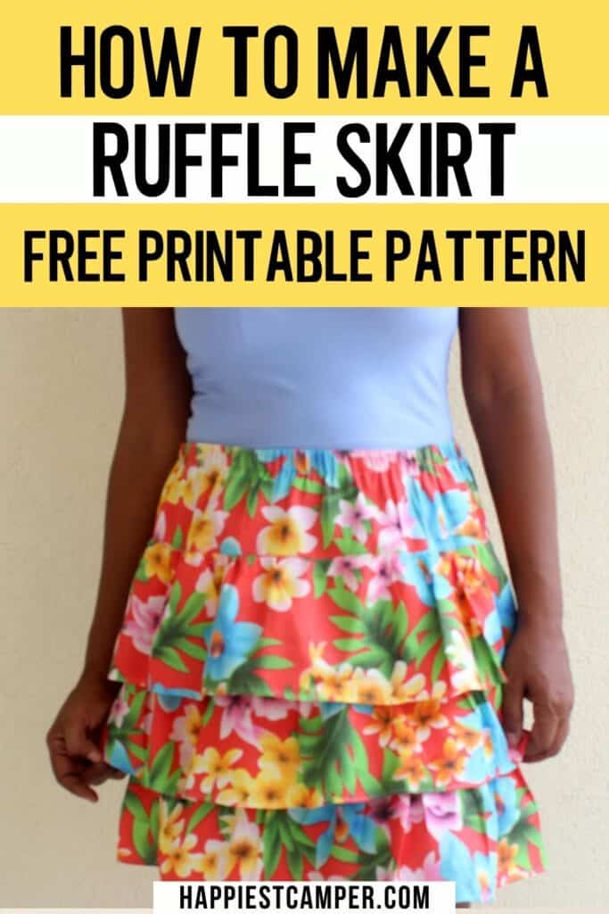 How To Make A Ruffle Skirt - Free Printable Pattern