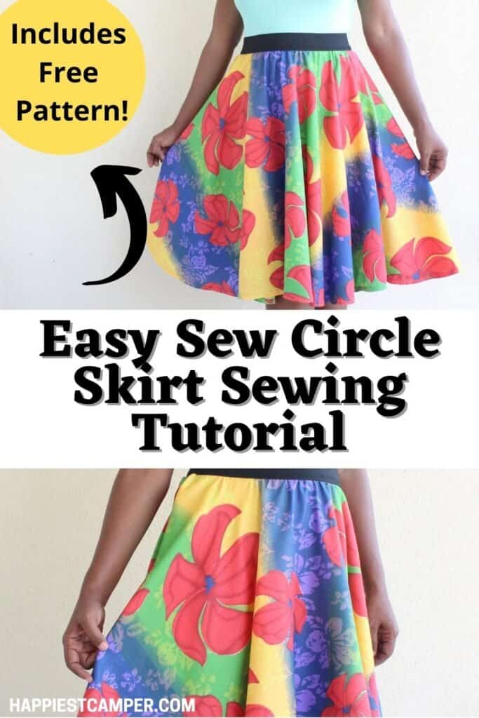 Easy Sew Circle Skirt Sewing Tutorial
