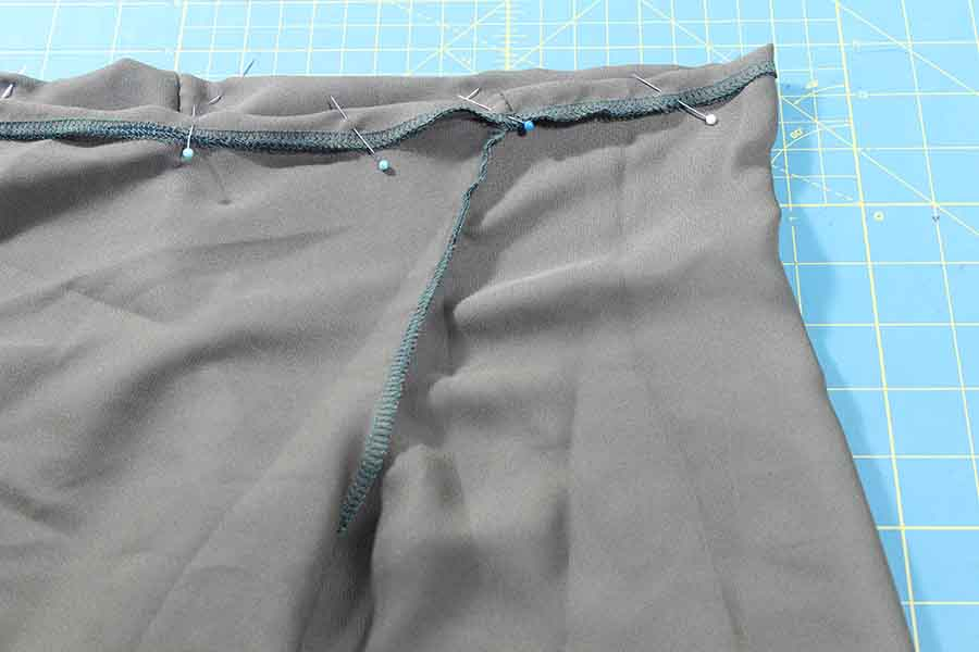 if used serger, fold by 5/8 and sew