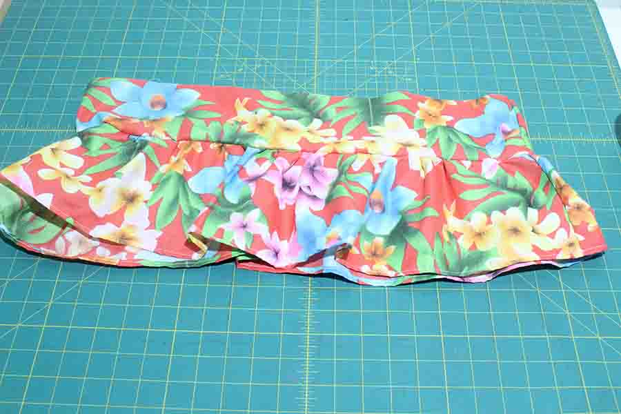 repeat to add ruffle piece and connector