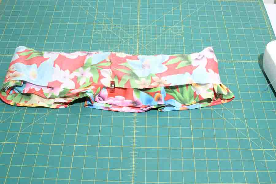 middle tier of ruffle skirt