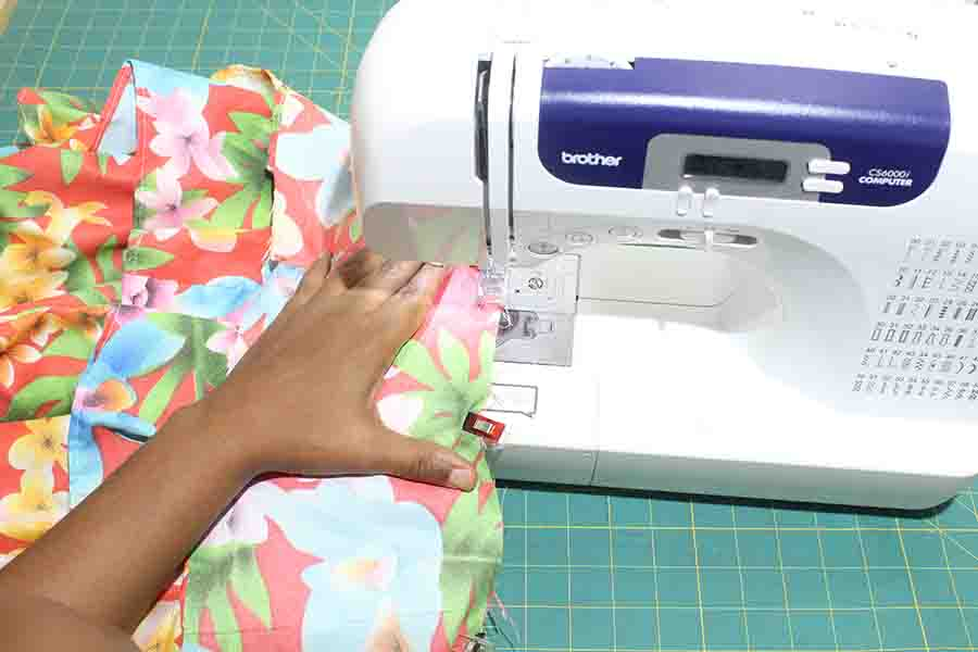 pin upper ruffle skirt to lower ruffle skirt