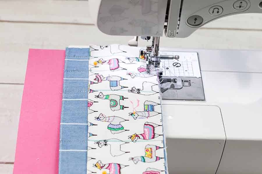 sewing pockets together for travel manicure kit