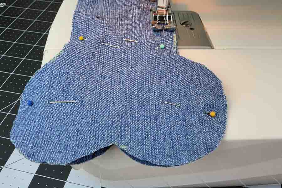 Sew Pieces of easy sew jean dog bone Together