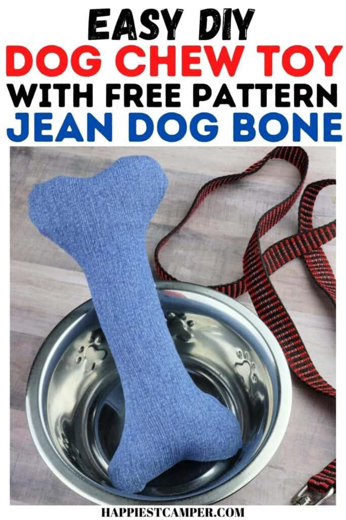 Easy DIY Dog Chew Toy - Sew a Jean Dog Bone with Pattern