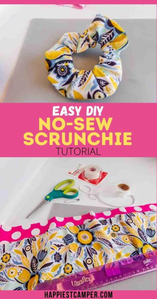 Easy DIY No-Sew Scrunchie Tutorial