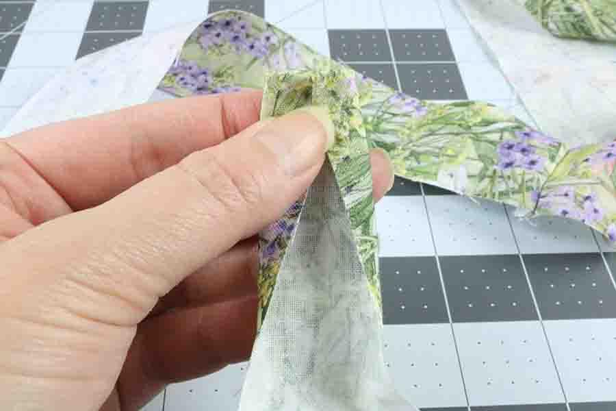 Fold fabric in Half for dog leash