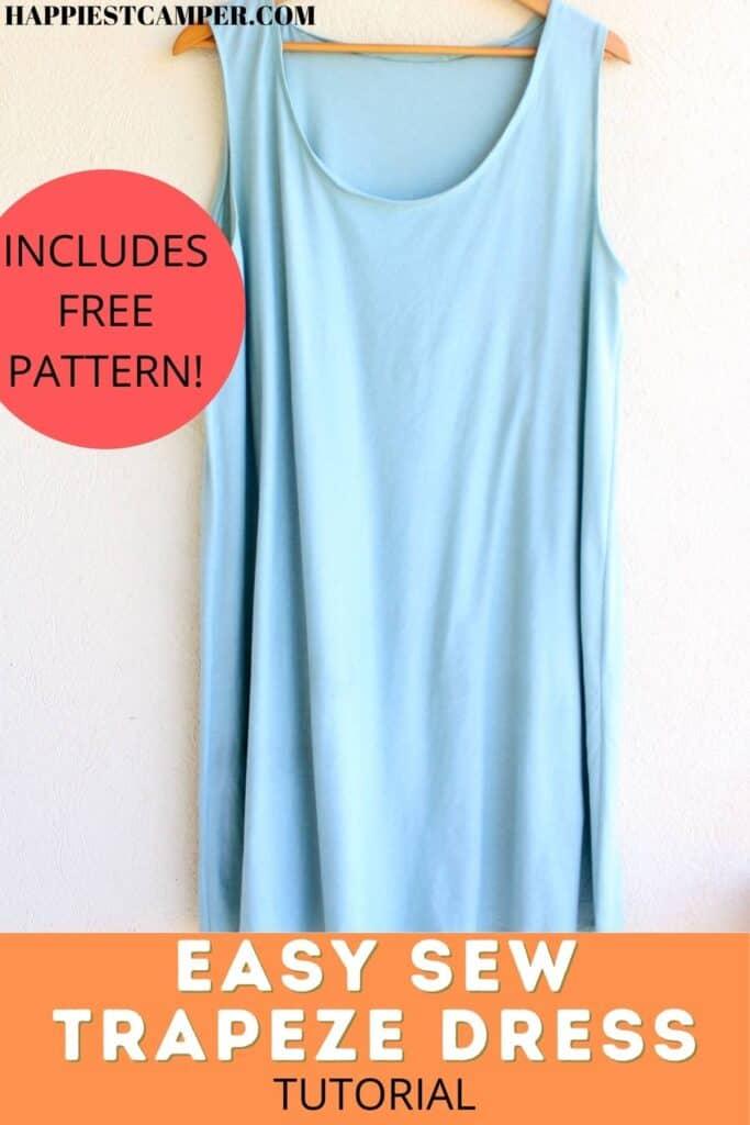 Easy Sew Trapeze Dress Tutorial