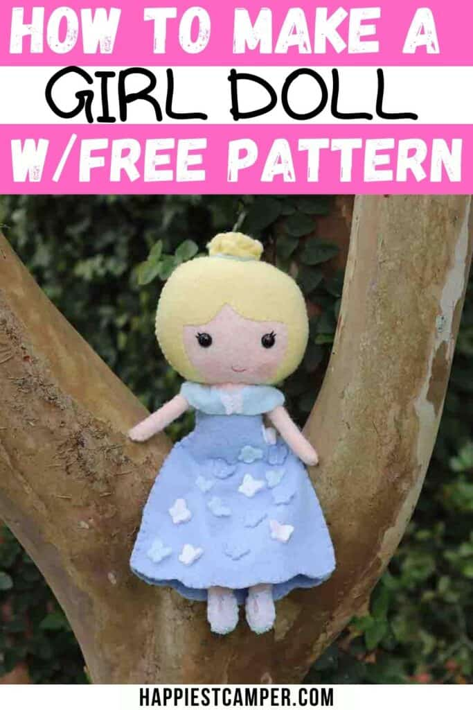 How To Sew A Girl Doll With Free Doll Pattern